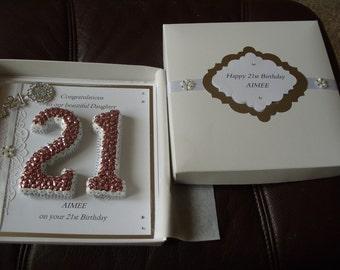 Handmade 21st Birthday Card Personalised