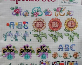 Cross Stitch Pattern | FLORAL ALPHABETS | Linda Gillum | Pam Johnson | Counted Cross Stitch | Booklet