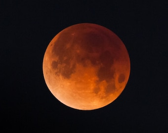 Total Lunar Eclipse 2018 SMALL PRINTS Super Blue Blood Moon Photograph Print Original