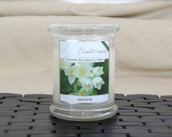 Jasmine -Scented Soy Candles, Jasmine Scented Candle, Jasmine Fragrance, Jasmine Candles, White Candles, Mothers Day Gifts, Gifts for Her