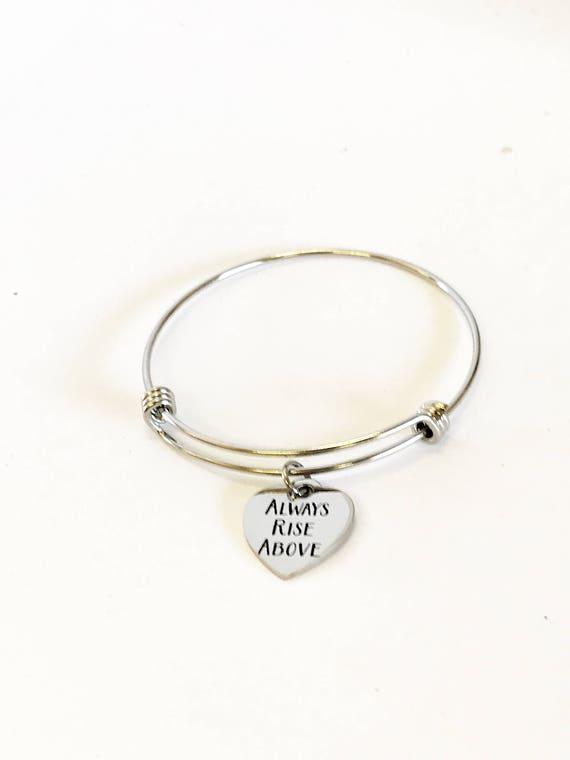 Motivational Jewelry Gifts, Always Rise Above Expanding Bangle Bracelet Jewelry, Motivational Bracelet, Motivational Gifts, Jewelry Gifts