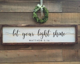 Let your light shine, matthew 5:16, vintage Home Decor