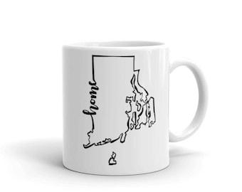 Rhode Island Home State - Coffee Mug