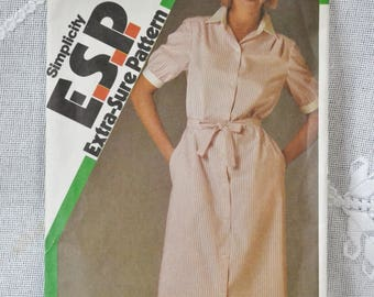 Simplicity 6399 Sewing Pattern Misses Shirtwaist Dress Size 10 12 14 DIY Fashion Sewing Crafts PanchosPorch