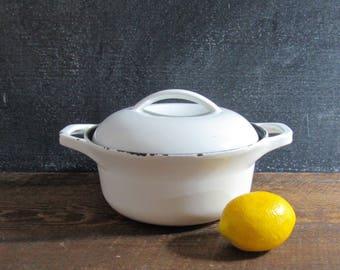 Vintage Dutch Oven, Colorcast, Enamel & Cast Iron, Cast Iron Cookware, Waterford Ireland, Mid Century Dutch Oven