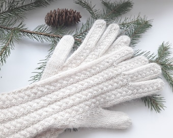 Wool knitted convertible mittens,  Winter gloves, Autumn gloves, Wool mittens, Convertible gloves