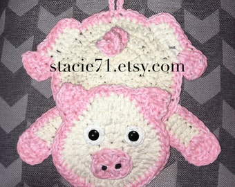 Pattern for crocheted shark socks baby child and adult pig pot holder crochet pattern dt1010fo