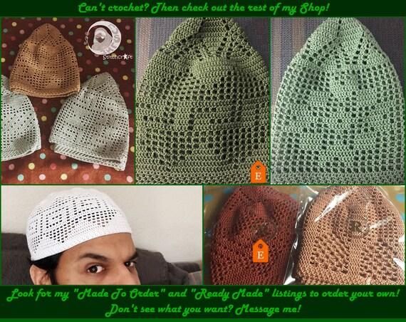 Crochet Kufi Pattern Crochet Topee Pattern Crochet Kufi Islamic