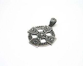 Celtic pendant silver 925 runes Celtic Cross