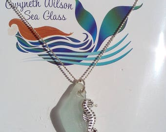 Seaglass Necklace in Seafoam Green