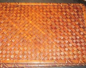 four woven bamboo mats excellent wall decor