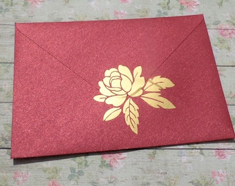 12 Rose stickers, rose envelope seals, rose wedding invitation seals, gold flower decals, removable wallpaper, rose treat bag decoration