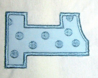 Applique #1 with polka dots fits 4x4 Hoop for Embroidery Machine - Automatic Download Multiple Formats