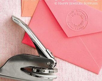 Customized Logo Embosser Stamp / Custom Monogram Embossing Stamp, Embossing Seal for Personalized, Wedding Invitations / Wedding Seal