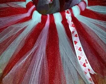 Valentines Day Tutu, Red Pink White Tutu, Love Tutu, Red and White Tutu, Red and Pink Tutu