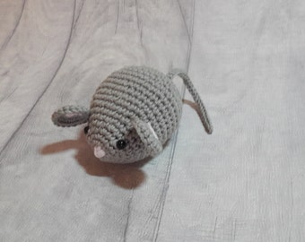 Grey Mouse, Crochet Grey Mouse, Crocheted Mouse, Amigurumi Mouse