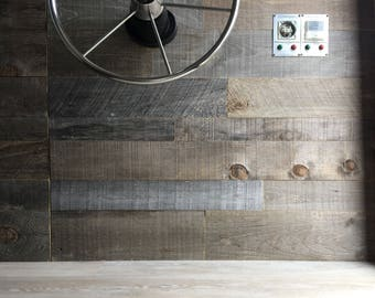 Reclaimed wood wall - reclaimed wood paneling - reclaimed paneling - wall plank - reclaimed wood - 8.50 per square foot