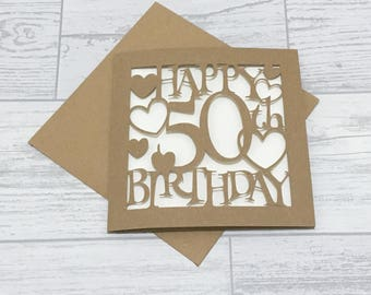 50th birthday cards etsy 50th birthday card fiftieth birthday 50th card happy 50th birthday special birthday m4hsunfo Gallery