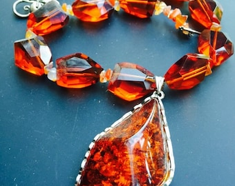 Large Resin Pendant Necklace