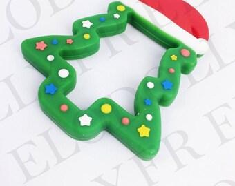 Christmas tree silicone teething ring