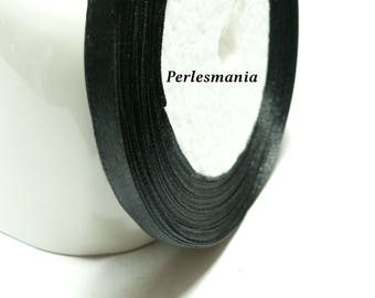 Special offer: 1 roll of 22 PY039 6mm black satin ribbon
