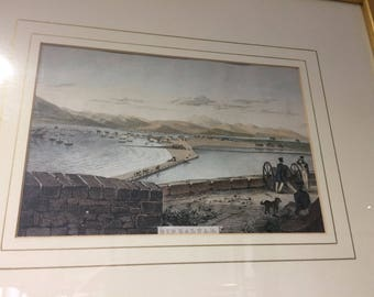 Historical Gibraltar Print by Major West, 4 in collection of 4 available