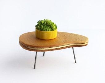 Plywood Boomerang Table - Mid Century Modern Miniature