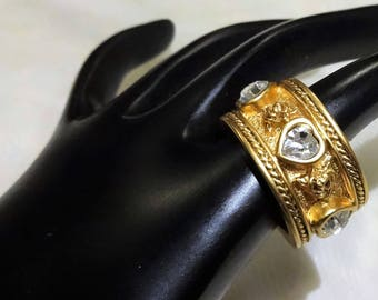 Vintage Elizabeth Taylor for Avon Love Blooms Collection Ring with Box