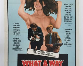 WHAT a WAY To DIE Orig Poster Exploitation 1972 Wild Adults Only