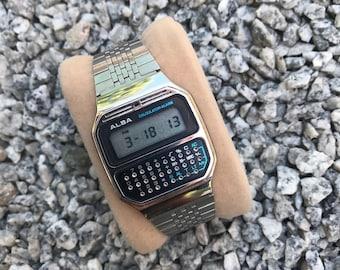 Vintage 1980'S Alba Calculator Watch/Casio/Seiko/Citizen Digital
