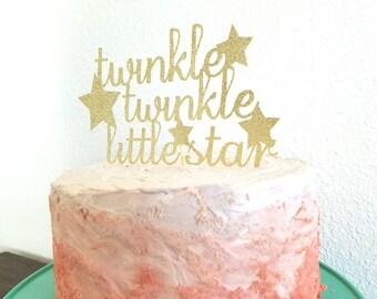 Twinkle little star cake topper, twinkle twinkle little star, twinkle little star birthday, twinkle little star baby shower, birthday decor