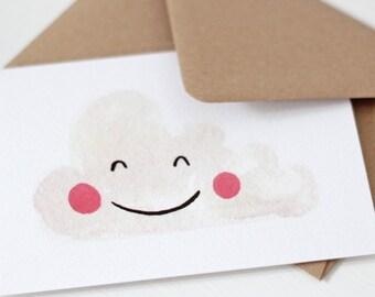 Happy Cloud Greeting Card