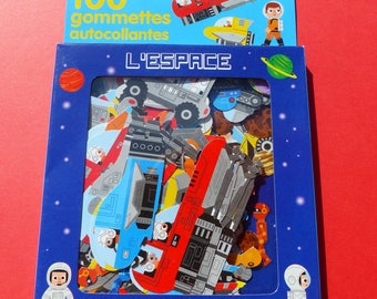 100 stickers stickers space astronauts space robots