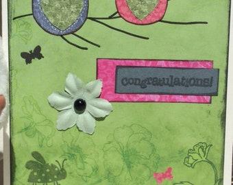 hand made congratulations card / handmade congratulation card