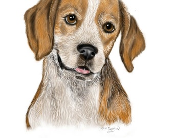 4 Beagle 4x6 Blank Note Cards
