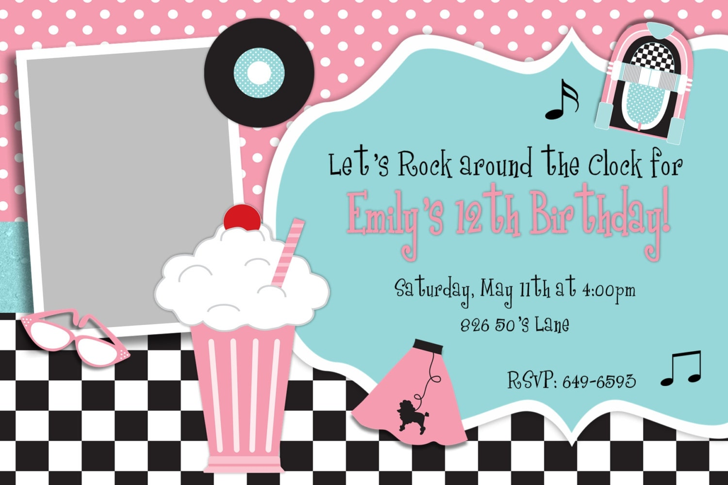Best 50s Theme Party Invitations Images - Invitation Card Ideas ...