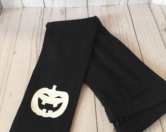 pumpkin black leggings