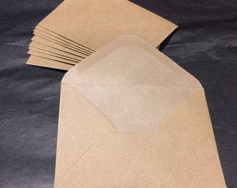 Kraft mini envelopes x 10