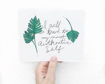 Authentic // Authenticity // art // illustration // typography // plants