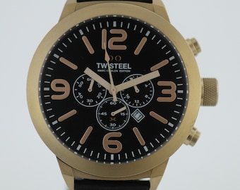 TW Steel Marc Coblen Edition Chronograph with leather strap