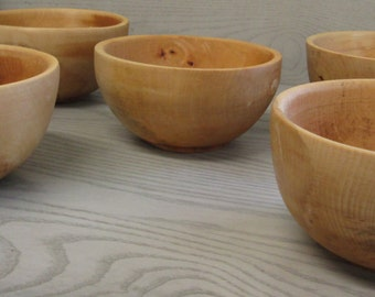 Wooden Rustic Maple Bowls