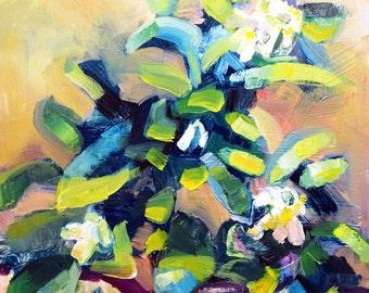 "Together Still Life "" Lemon Tree 4"", Oil Painting plein air  Expressionist  Impressionist Painting"