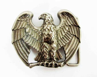 Vintage Bald Eagle Belt Buckle by AVON. Circa 1970's.