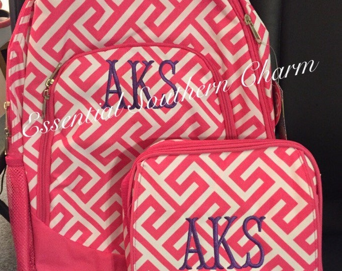 Monogram Bookbags and Lunch totes