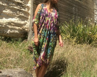 Luxurious Bohemian Summer Over Size One Size Kaftan/Top/Tunic ST:3039
