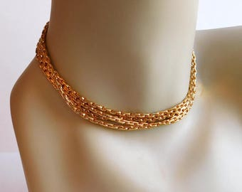 Vintage Signed Vendome Exra-Long Goldtone Chain Necklace - 55 Inches - Faux Gold Chain - Double or Triple - 1970s 1980s - Classic, Elegant