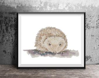 Hedgehog Hedge Hog Counted Cross Stitch Pattern - PDF Digital Download