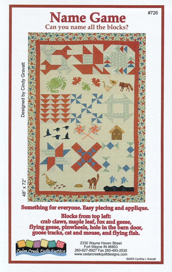 Quilt Pattern Applique And Pieced Block Quilt A Row Quilt Fox And