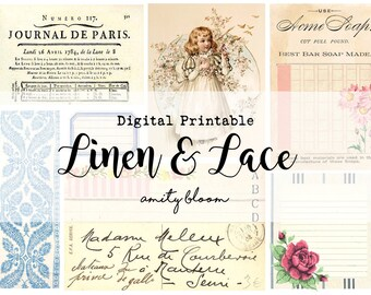 Linen & Lace Digital Printable