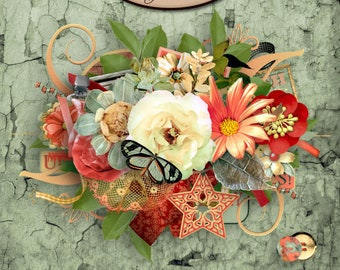 Digital Scrapbooking, Elements: Just Watch Me